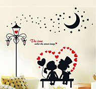 European Romantic Love Lights Couple Wall Stickers
