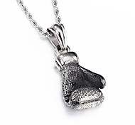 Kalen Fashion Jewelry 316L Stainless Steel Power Boxing Big Fist Pendant Necklace For Men