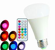 Bombillas Globo Regulable / Control Remoto / Decorativa SchöneColors A60(A19) E26/E27 9 W 3PCS LED de Alta Potencia 550LM LM RGBAC