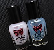 2Pcs BGIRL Strip Nail Polish Can Be Torn Non-toxic Water Nail Polish Special Bottom Oily Oil Transparent Water