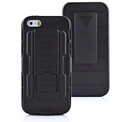3 in 1 Impact Black Armor Hybrid Case With Belt Swivel Clip Stand for iPhone 5/5S