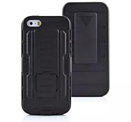 3 in 1 Auswirkungen schwarze Rüstung Hybridtasche mit Gürteldrehclip Standplatz für iphone 5 / 5s