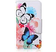 Schmetterlinge-Muster PU-Material Kartenhalterung iPod Touch 6.5
