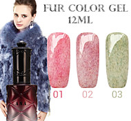 1PCS ANA Fur Color Gel 12Colors Long Lasting Nail Polish 1-3