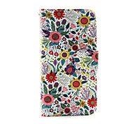 Colorful Flower PU Leather Wallet Full Body Case for iPod Touch 5/6
