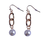 Simple Style   Loops Pearl Alloy Earrings