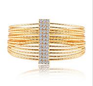 Lureme®European Style Fashion Drill  Multilayer Circle Gold Plating Bracelet
