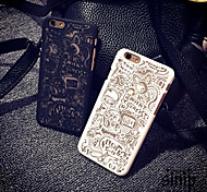 Playful Pattern Openwork Relief Printing Thin PC Material Phone Case for iPhone 5/iPhone 5S(Assorted Colors)