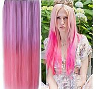 alta resistência à temperatura de dois tons 26 polegadas longa reta extensão peruca 5 clipe de venda quente.