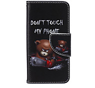 Do not Touch Me Winnie PU Material Pattern Card Bracket  Case for iPod Touch 5  /6