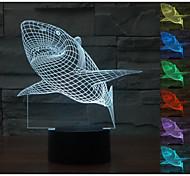 Visual 3D Shark Model Mood Atmosphere LED Decoration USB Table Lamp Colorful Gift Night Light