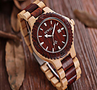 Men's Wood Bewell Date Function Men Japan Quartz Watch with Maple Band (Assorted Colors) Wrist Watch Cool Watch Unique Watch