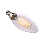 8W E12 Luci LED a candela A60(A19) 4 COB 640 lm Bianco caldo / Bianco Decorativo AC 110-130 V 1 pezzo
