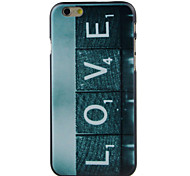 LOVE LOVE High Quality and Good Price Pattern  Hard Case for iPhone 6/6S