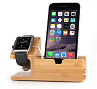 New Wooden Charger Stand Holder for Apple Watch and iPhone 6 Plus/6/5S/5