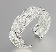 Christmas Noble Quality 925 Sterling Sliver Exaggeration Bangles Party Daily Bangles For Woman&Lady
