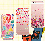 MAYCARI®Sweet Love Soft Transparent TPU Back Case for iPhone 6/iphone 6S(Assorted Colos)