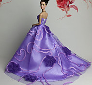 Barbie Doll Purple Party & Evening Organza / Lace Dresses Dresses