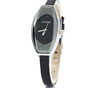 xicoo 456 fino couro banda relógio de quartzo para mulheres