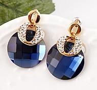 Earring Drop Earrings Jewelry Women Silver Plated 2pcs Silver