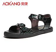 Aokang Femme Similicuir Sandales Vert
