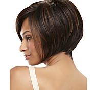 Hochtemperaturfaser synthetische weibliche elegante Mode Promi-Mischungsfarbe bobo Haare synthetische Perücke
