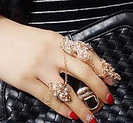 Lady's Fashion  Inlay Diamond Alloy Midi  Rings
