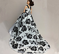 Barbie Doll White / Black Party & Evening Organza / Lace Dresses Dresses