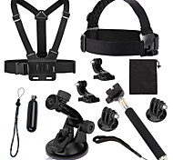 Accessori GoPro Monopiede / Treppiedi / Vite / Boje / Ventosa / Con bretelle / Montaggio / Accessori Kit Conveniente / Tutto in uno, Per-