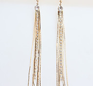 Girl's Diamond Tassel Earrings