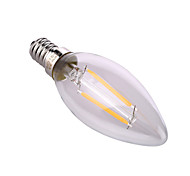 4W E14 / E26/E27 Luces LED en Vela A60(A19) 2 COB 320 lm Blanco Cálido / Blanco Natural Decorativa AC 100-240 V 1 pieza