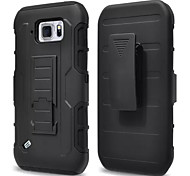3 in 1 Impact Black Armor Hybrid Case With Belt Swivel Clip Stand for Samsung Galaxy S4 Mini/S6 Active