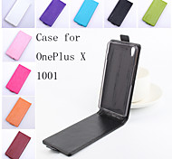 For OnePlus Case Flip / Magnetic Case Full Body Case Solid Color Hard PU Leather One Plus