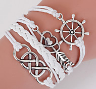 White Rudder & An Arrow Through the Heart Multilayer Weave Bracelet inspirational bracelets
