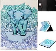 patrón elefante azul voltear la funda de protección titular de la tarjeta para el ipad pro
