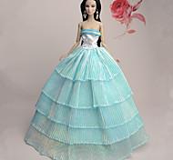 Barbie Doll - Abiti - Party & Sera - di Organza / Pizzo - Azzurro cielo - Abiti