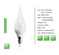 1 pcs  E14 / E12 5W 10PCS*0.5W SMD 450 LM Cusp Dimmable Candle Bulbs