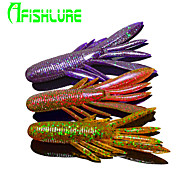 "Afishlure Soft Bait Lure Packs Sinking Artificial Shrimp 7g/1/10 oz. / 1/4 oz 80mm/ 2-5/8"" / 3-1/4"" inch 8pcs/lot"