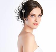 chiffon con copricapo da sposa da sposa strass nero