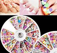 1pcs  8cm Nail Color Pearls Jewelry Box