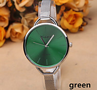 Fashion Silver Alloy Thin Belt Ladies Watches Simple Quartz Watch With a Big Dial Cool Watches Unique Watches