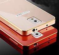 Para Samsung Galaxy Note Cromado Funda Cubierta Trasera Funda Un Color Metal Samsung Note 4 / Note 3