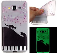 New Tigers Down Pattern TPU Material Luminous Phone Case for Galaxy G530/G360/J3/J1 Ace/I9060