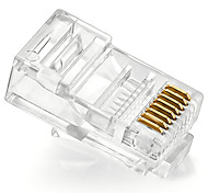100pcs 8p8c enchufe cat5e enchufe rj45 shengwei® rc-4100 para la interfaz de conexión a Internet