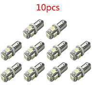 10pcs HRY® BA9S 5050 5SMD White Color Car Led Light Auto Bulb Indicator License Plate Map Dome Packing Car Styling 12V