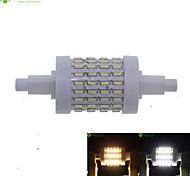 R7S 78mm 72 x 4014SMD 8W Warm White / Cool White 800LM 360°Beam Horizontal Plug Lights Dimmable Flood Light AC85-265V