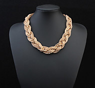 European Style Fashion Metal Braided Necklace
