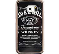 Jack Daniels Pattern Plating TPU Phone Case for iPhone Galaxy S6 edge Plus/S6 edge/S6