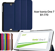 Tri-Fold Ultra Slim Leather Case Cover for Acer Iconia One 7 B1-770 7〃 Tablet