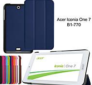 """2015 novos de dobraduras ultra slim tampa da caixa de couro para Acer Iconia um 7 b1-770 7 """"tablet"""